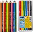 Цветные карандаши, фломастеры, мел