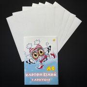 Картон білий односторонній А4, 7 аркушів. В паперовому конверті. Тетрада ТЕ252