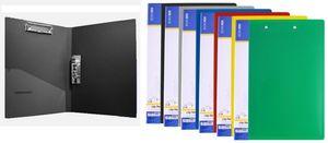Папка з затиском А4 мікс кольорів 500 мкм матова фактура з внутрішньою кишенею Light Economix E31209