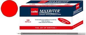 Стержень кульковий червоний 140 мм Maxriter Cello 727ref