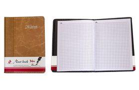 Блокнот А6, 100 аркушів, клітинка, м'яка обкладинка, з ручкою на кнопці Leader 118320