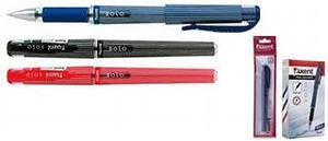 Ручка кулькова синя 0.5 мм з гумовим тримачем Solo Axent АВ1003