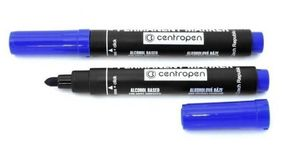 Маркер Centropen 8566 перм синій 2,5мм круг (10) 01160306