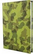 Щоденник недатований А5 320 аркушів білий папір в лінію прошивний шкіряна тверда обкладинка зелений Military Economix E21721-04