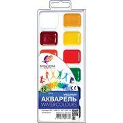 Акварельні фарби, 12 кольорів, пластикова упаковка ЛУЧ Классика 19С1286-08 (1/48)