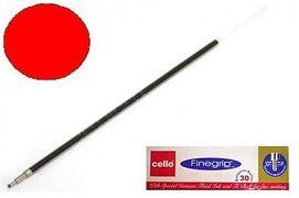 Стержень кульковий Finegrip. Пишучий вузол 0,7 мм. Довжина стрижня 144 мм. Колір чорнила: червоний (10/30)