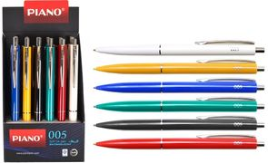 Ручка масляна автоматична синя 0.7 мм Piano 005