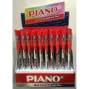 Ручка масляна червона 0.7 мм з гумовим тримачем Classic Piano PT-195