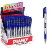 Ручка масляна синя 0.7 мм з гумовим тримачем Classic Piano PT-195-С