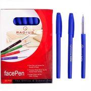 Ручка масляна синя 0.7 мм з матовим корпусом Face pen Radius