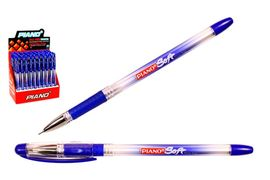 Ручка масляна синя 0.7 мм з гумовим тримачем Soft Piano PT-197