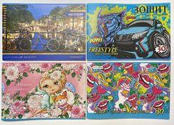 Альбом для малювання (30 л 120гр м2) СКОБА FAIMILY LINE глітер (12/72)