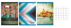 Книга канцелярська А4 (48 л) клітинка газетна кольорова обкладинка М/Х (30)
