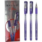 Ручка масляна фіолетова 1.0 мм з гумовим тримачем I-Pen Radius