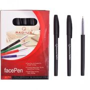 Ручка масляна чорна 0.7 мм з матовим корпусом Face pen Radius