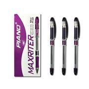 Ручка кулькова фіолетова 0.7 мм з гумовим тримачем Maxriter Piano PT-335
