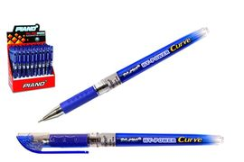 Ручка масляна синя 0.5 мм з гумовим тримачем Curve Piano PT-118