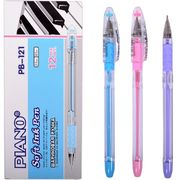 Ручка масляна синя 0.5 мм з гумовим тримачем Piano PB-121