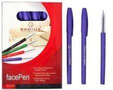 Ручка масляна фіолетова 0.7 мм з матовим корпусом Face pen Radius