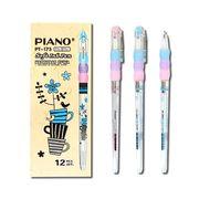 Ручка масляна синя 0.5 мм з гумовим тримачем Dizain Piano PT-173
