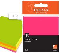 Папір з липким шаром 76х76 мм кольоровий мікс Tukzar TZ F