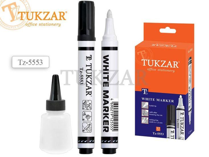 Маркер фарби, білий, 1.5 мм, спиртова основа TZ-5553