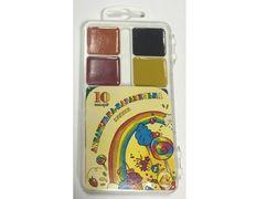 Фарби аквар ТЕТРАДА (10 кольорів) пластик/уп АКВАРЕЛЬКА-КАРАМЕЛЬКА (54)