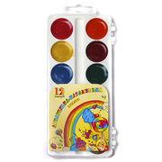 Акварельні фарби 12 кольорів, пластиков упаковка Акварелька - Карамелька Тетрада ТЕ461147