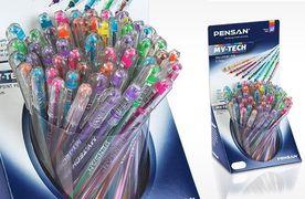 Набір масляних ручок 0.7 мм 8 неонових кольорів My Tech mix Pensan