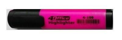 аркер-текст 4Оffice. Клиноподібний пишучий вузол. Ширина лінії 1-5  мм. Колір чорнила: рожевий 4-109 01100301 (10)
