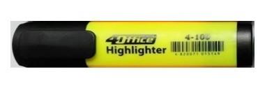 Маркер-текст 4Оffice. Клиноподібний пишучий вузол. Ширина лінії 1-5  мм. Колір чорнила: жовтий 4-109 01100303 (10)