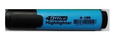 Маркер-текст 4Оffice. Клиноподібний пишучий вузол. Ширина лінії 1-5  мм. Колір чорнила: блакитний 4-109 01100305 (10)