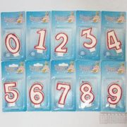 Свічка для торта з блискітками Цифри 0-9  LEADER