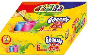 Гуаш CLASS 6 кольорів 60мл 7617 (24)