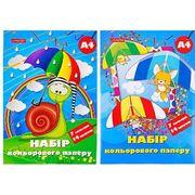 Папір кольоровий А4 (14л) 7 кольорів флуоресцентний книжкою Тетрада (50
