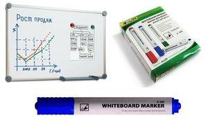 Маркер для дошки 4Office 4-105 синій 1-3 мм(12) 01170206