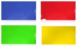 Папка конверт Е65 прозора 180 мкм глянсова фактура на кнопці Economix N31306-00