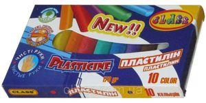 Пластилін CLASS (10 кольорів) 170г ЕСО Чисті руки 7626 (20)
