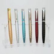 Ручка подарункова кулькова автоматична поворотна металева Baixin ВР320-3 (1,2,3,4,5,6) мікс (12)