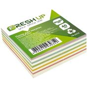 Папір для нотаток 80х80 мм 400 аркушів проклеєний кольоровий мікс Fresh Up FR-2412