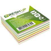 Папір для нотаток не клеєний кольоровий блок Fresh Up 400 аркушів 80х80 мм FR-2411