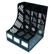 Лоток для паперів вертикальний 3 відділення Economix E31903 чорний (36)