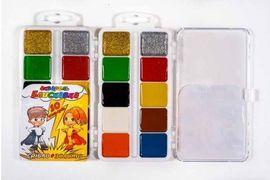 Фарби аквар ТЕТРАДА (10 кольорів) пластик/уп БЛИСКАВКА (золото + срібло) (54)