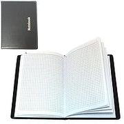 Блокнот А5 80 аркушів білий папір в клітинку прошивний шкіряна м'яка обкладинка Leader 8425