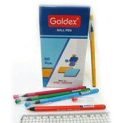 Ручка масляна Goldex AERO Пишучий вузол - 0,6 мм. Без змінного стрижня. Колір чорнила: синій. 1161-BL (50)