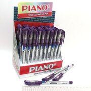Ручка масляна фіолетова 0.7 мм з гумовим тримачем Classic Piano PT-195-C