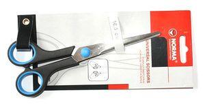 Ножиці універсальні з гумовими кільцями для пальців. Довжина 16,5 см Norma 4210 (1/24)