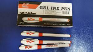 Ручка гелева червона 0.5 мм з гумовим тримачем Tianjiao Josef Otten TZ513