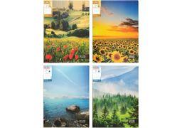 Швидкозшивач щільний А4 мікс кольорів 700 мкм матова фактура з пружиною Nature of Ukraine Optima O31278