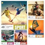 Зошит в клітинку 48 аркушів кольорова обкладинка, дизайн: Спорт Тетрада ТЕ91584